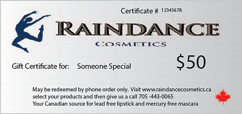 gift certificate website sample