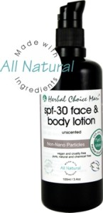Herbal Choice Mari regular & TINTED Face & Body Lotion SPF30